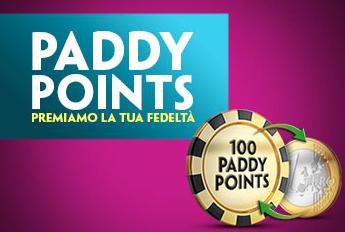 Scopri Paddy Points, il programma fedeltà di Paddy Power