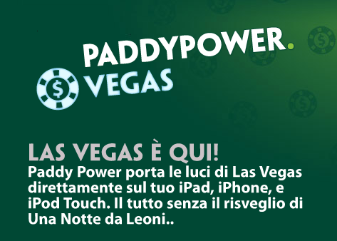 Paddy Power Vegas App: il casinò a portata di mobile