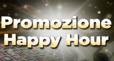 Happy Hour: fino a 50€ di Bonus sull'ultimo deposito del mese!