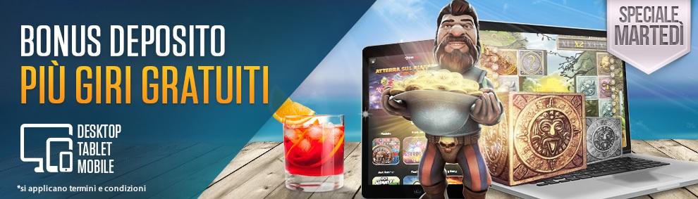 Vivi uno Speciale Martedì di Agosto con NetBet Casinò e la slot Gonzo's Quest