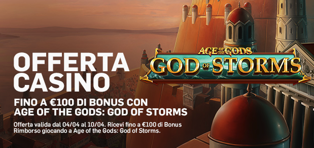 """Age of the Gods: God of Storm"" ti aspetta su Betfair Casinò"