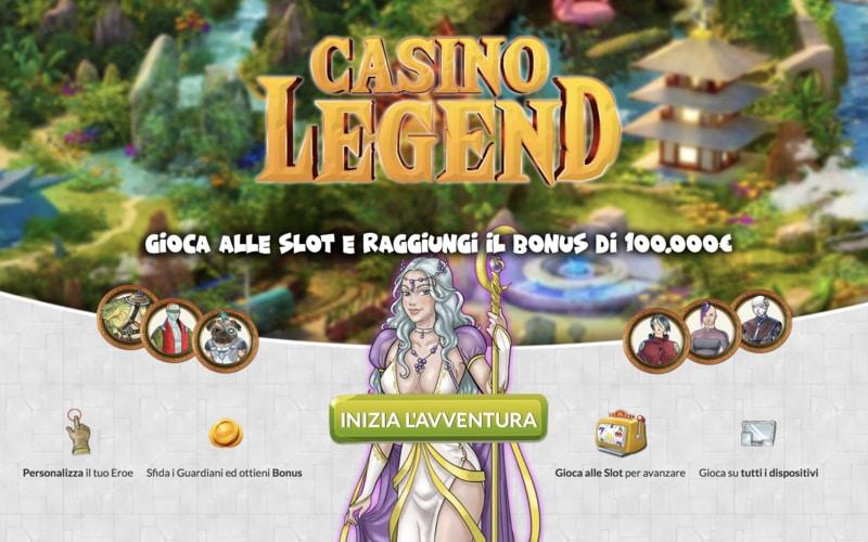 Casino Legend, un'avventura da 100.000 euro